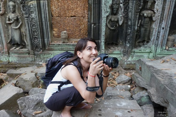 À Angkor, au Cambodge, en février 2011. (Crédit photo : Marie Toumit / blog-plus-loin.com)