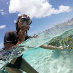 Dans le lagon de Maupiti, en Polynésie. Octobre 2012.