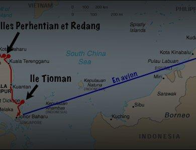 Juillet 2006. Mon itinéraire d'un mois en Malaisie.