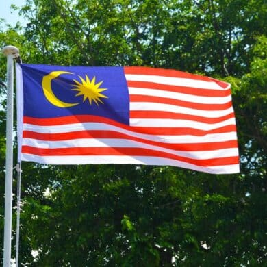 The Malaysian flag. (Photo: Pxhere / CC0)
