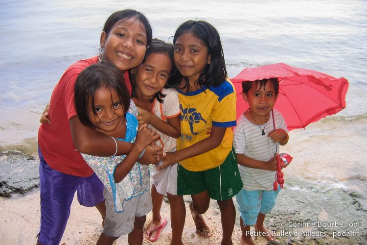 The children of Bunaken. Sulawesi, Indonesia, July 2007.