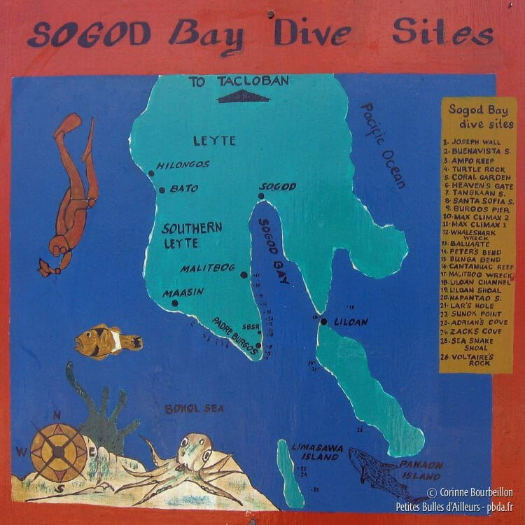 Dive sites in Sogod Bay. (Leyte, Philippines, February 2008)