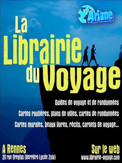 Ariane, la librairie du voyage, à Rennes.