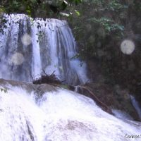 The Saluopa Waterfall is a gigantic cataract buried in the jungle near Lake Poso. (Sulawesi, Indonesia, July 2007)