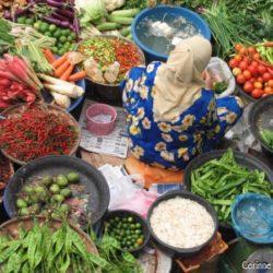 Mosaïque de couleurs au marché central de Kota Bahru. (Malaisie, juillet 2006)