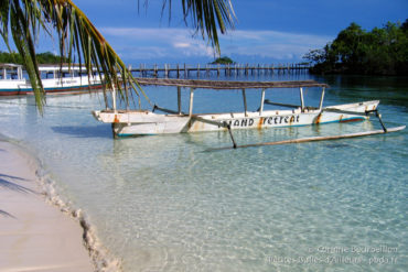 Island Retreat: white sand and azure water ... (Togian Islands, Sulawesi, Indonesia, July 2007.)