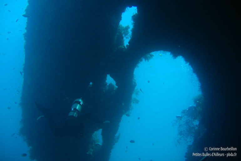 The rudder, huge! (Liberty Wreck, Tulamben, Bali, Indonesia, July 2008)