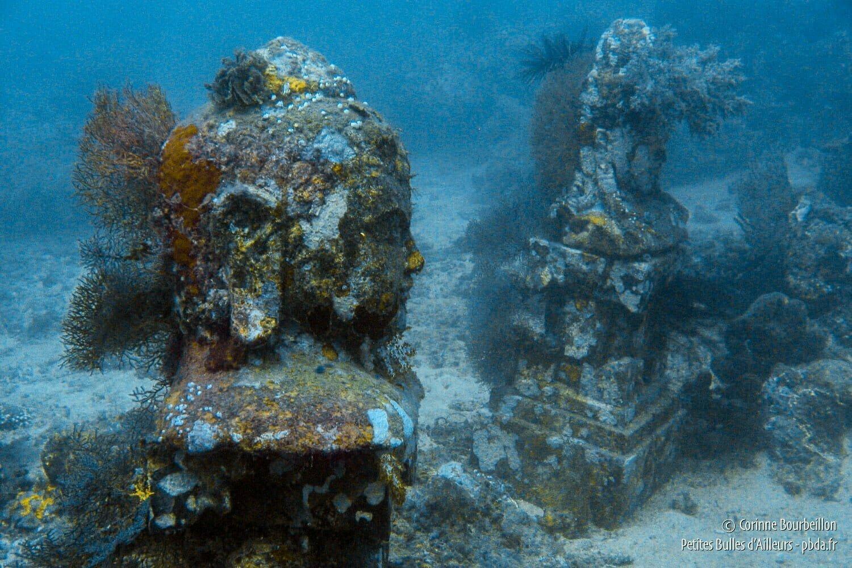 Temple Garden, an underwater temple created by Gardeners of Pemuteran Reef. (Bali, Indonesia, July 2008.)
