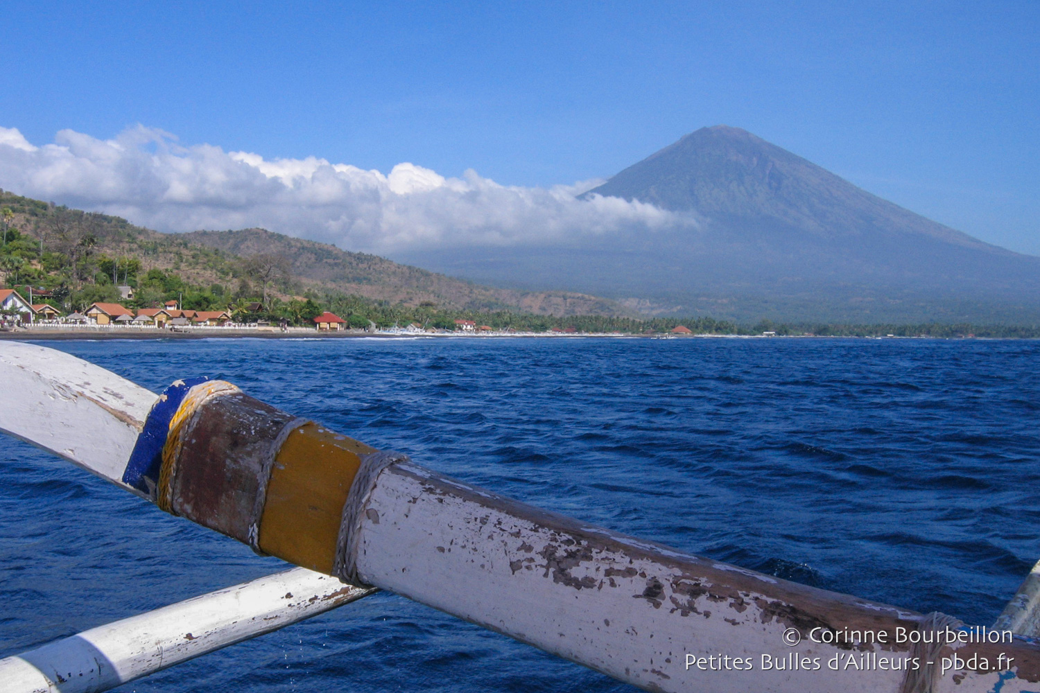 Mount Agung seen from the sea. (Amed, Bali, Indonesia, July 2008.)