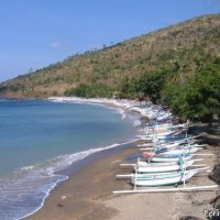 A small cove in the Amed area, on the Lipah village side. Bali.