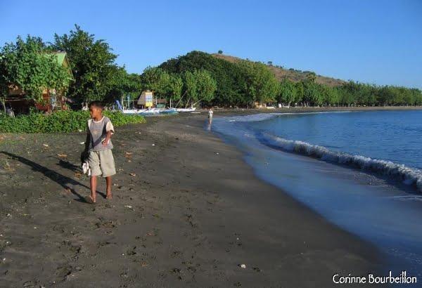 The black sand cove of Pemuteran. Bali. July 2008.