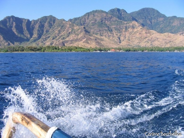 The mountainous region of Pemuteran, seen from the sea. (Bali, Indonesia, July 2008)