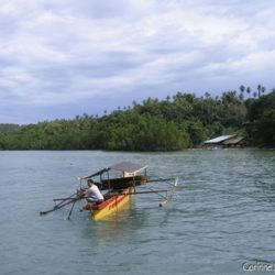 A traditional rocker boat, photographed off Pantai Liang (Bunaken).