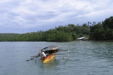 A traditional rocker boat, photographed off Pantai Liang (Bunaken).