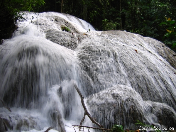 The Saluopa waterfall, in the middle of the jungle, near Lake Poso. (Sulawesi, Indonesia)