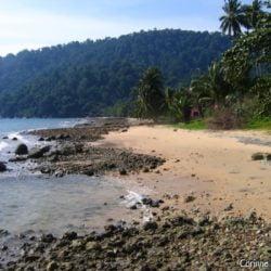 Air Batang Beach, aussi appelée ABC Beach. Tioman Island, Malaisie.