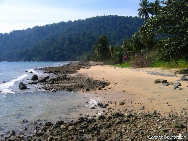 Air Batang Beach, also called ABC Beach. Tioman Island, Malaysia.