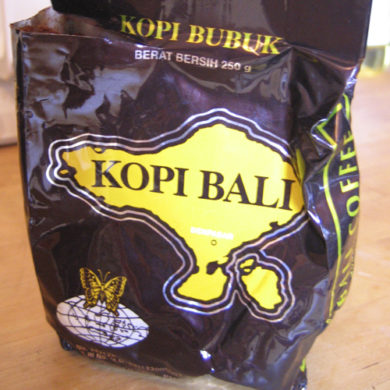 Kopi Bali, the Balinese coffee.