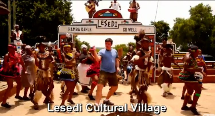 Matt Harding dances in South Africa.