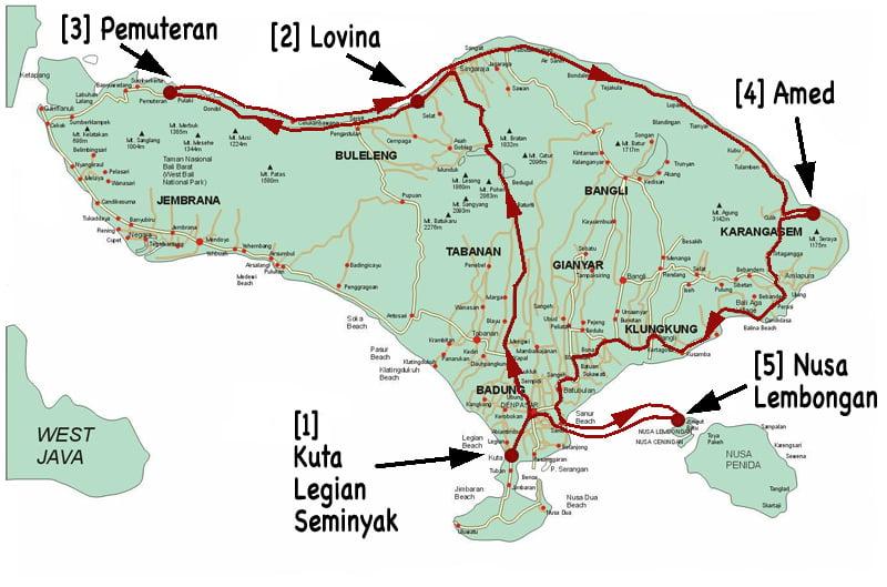 Carte Bali Legian.Cartes Et Itineraires