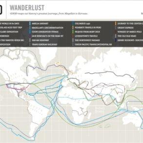 La carte interactive WanderLust (Désir d'Errance). © Good (www.good.is)