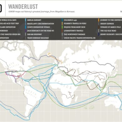 The interactive map WanderLust (Wandering Desire). © Good (www.good.is)