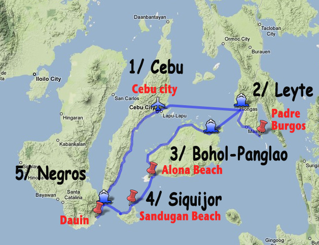 Three weeks in the Visayas archipelago, in the Philippines: Cebu-Leyte-Bohol / Panglao-Siquijor-Negros.