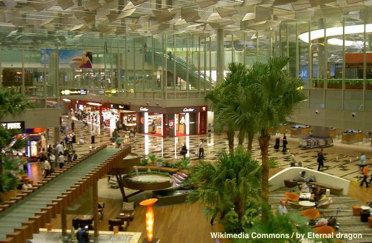 Le Changi Airport de Singapour.
