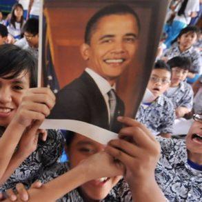 En Indonésie, Obama fait la fierté des élèves de l'école de Jakarta où il a été en classe, quand il était petit. [©Bay Ismoyo/AFP]