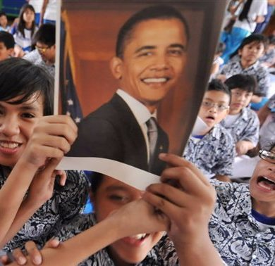 In Indonesia, Obama is the pride of the students of the school in Jakarta where he was in class when he was little. [© Bay Ismoyo / AFP]
