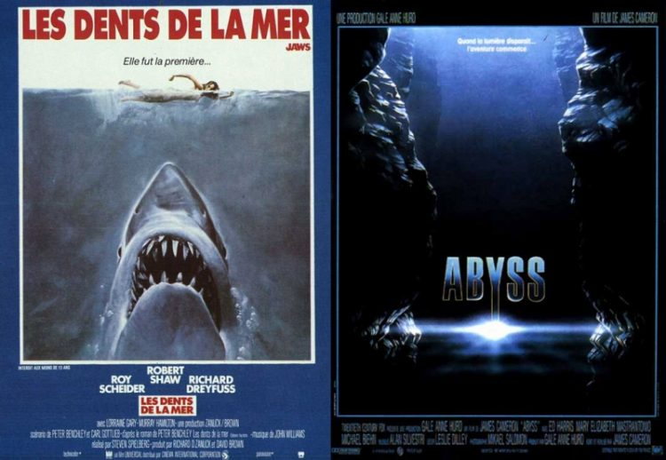 Teeth of the sea and Abyss. Two films, two fantasies, two fears of the unknown?