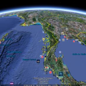 Je veux plonger dans la mer d'Andaman avec Google Earth! Mais je n'y arrive pas...
