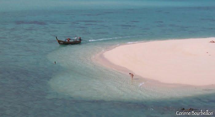 La langue de sable au nord de Sunrise Beach. Koh Lipe, Thaïlande. Mars 2009.