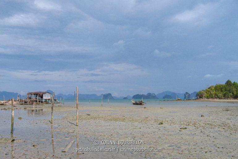 Marée basse à Koh Yao Noi. (Thaïlande, février 2009)