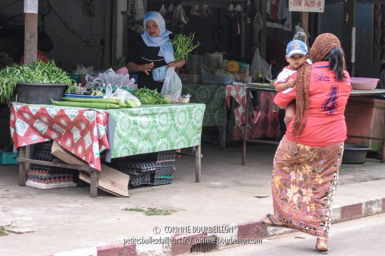 Dans la rue principale du bourg de Koh Yao Noi. (Thaïlande, février 2009)