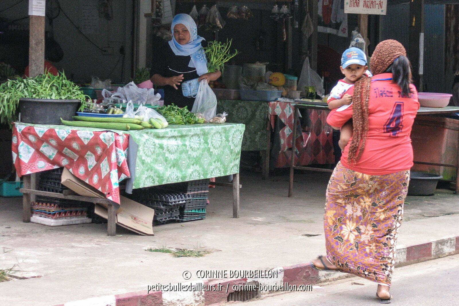 Dans la rue principale du bourg de Koh Yao Noi. Thaïlande, février 2009.