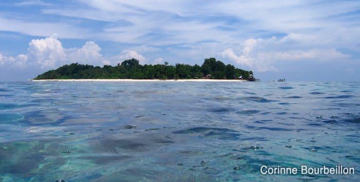 L'île de Sipadan, près de Bornéo, en Malaisie. Juillet 2006.