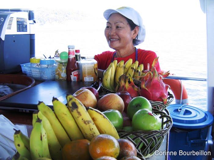 Meow, super cuisinière, sur le bateau d'Eden Divers. (Similan live-aboard, Thaïlande, février 2009.)
