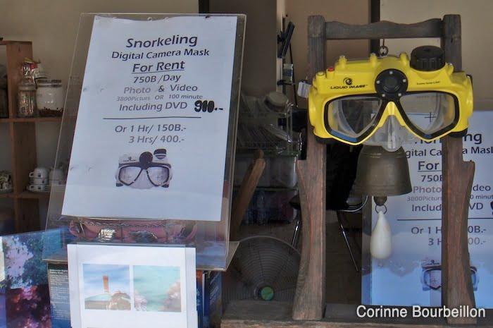 À Koh Lipe, on peut louer un masque-caméra pour 750 bahts.