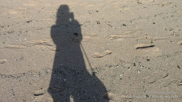 My shadow on the sand, in Nusa Lembongan. Bali, Indonesia, July 2008.
