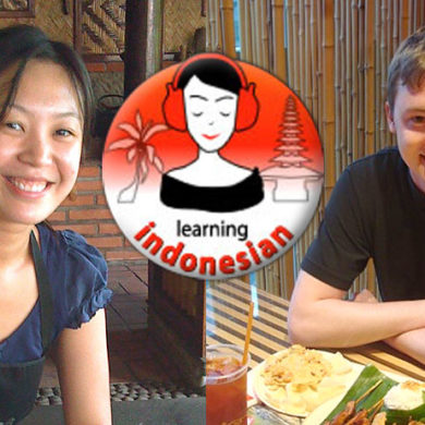 Learning Indonesian, by Cici and Shaun.