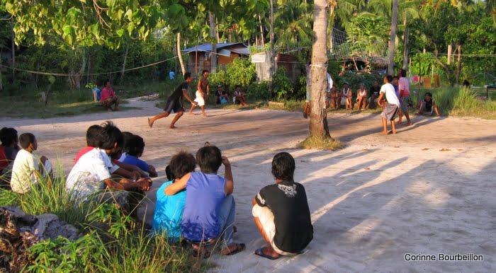 Mabul Village. Bornéo, Malaisie, juillet 2009.