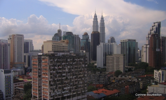 Les Twin Towers de Kuala Lumpur (Malaisie).
