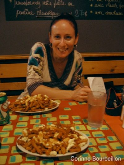 A poutine in La Banquise, Montreal, with Marie-Julie Gagnon!