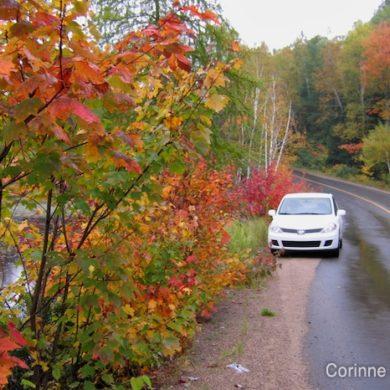 Virée automnale dans les Laurentides (Québec, Canada).