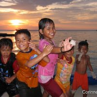 The children of Derawan. Borneo, Indonesia. July 2009.