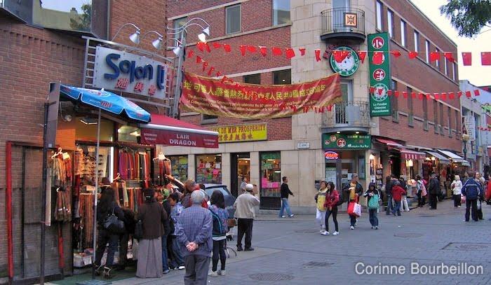Chinatown. Rue de la Gauchetière, Montreal.