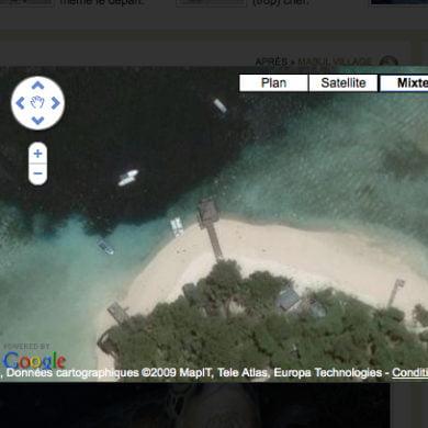 Zoom sur le ponton de Sipadan.