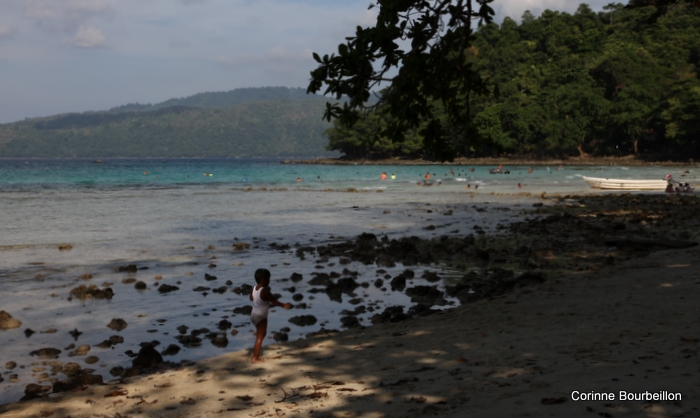 Sunday, on the beach of Gapang Beach. Pulau Weh, Sumatra, Indonesia. March 2010.
