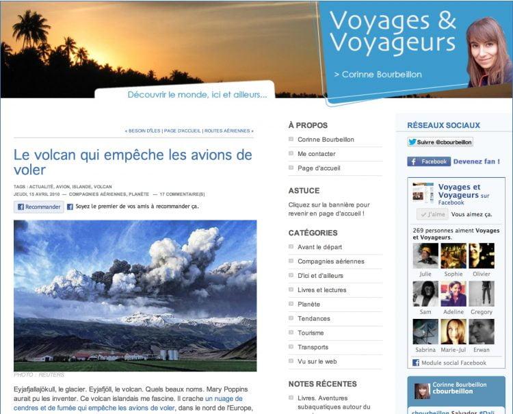 Voyages & Voyageurs, mon nouveau blog pour Ouest-France.fr